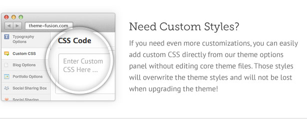 editing custom CSS in WordPress theme
